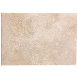 Castle Travertine Cream Stone Effect Ceramic Wall Tile,