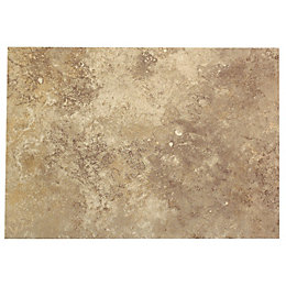 Castle travertine Coffee Stone effect Ceramic Wall tile,