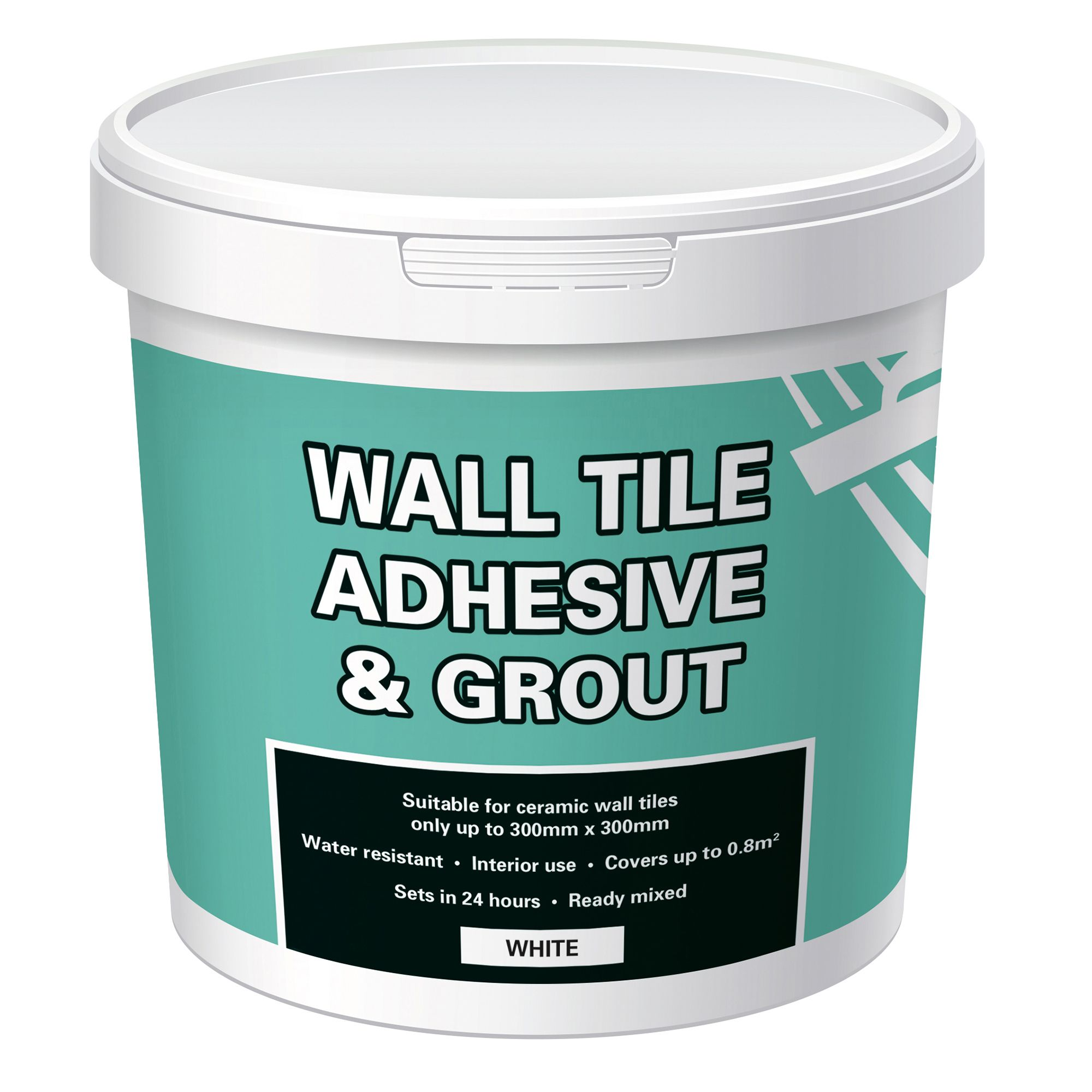 Ready mixed White Tile adhesive & grout, 1kg | Departments ...