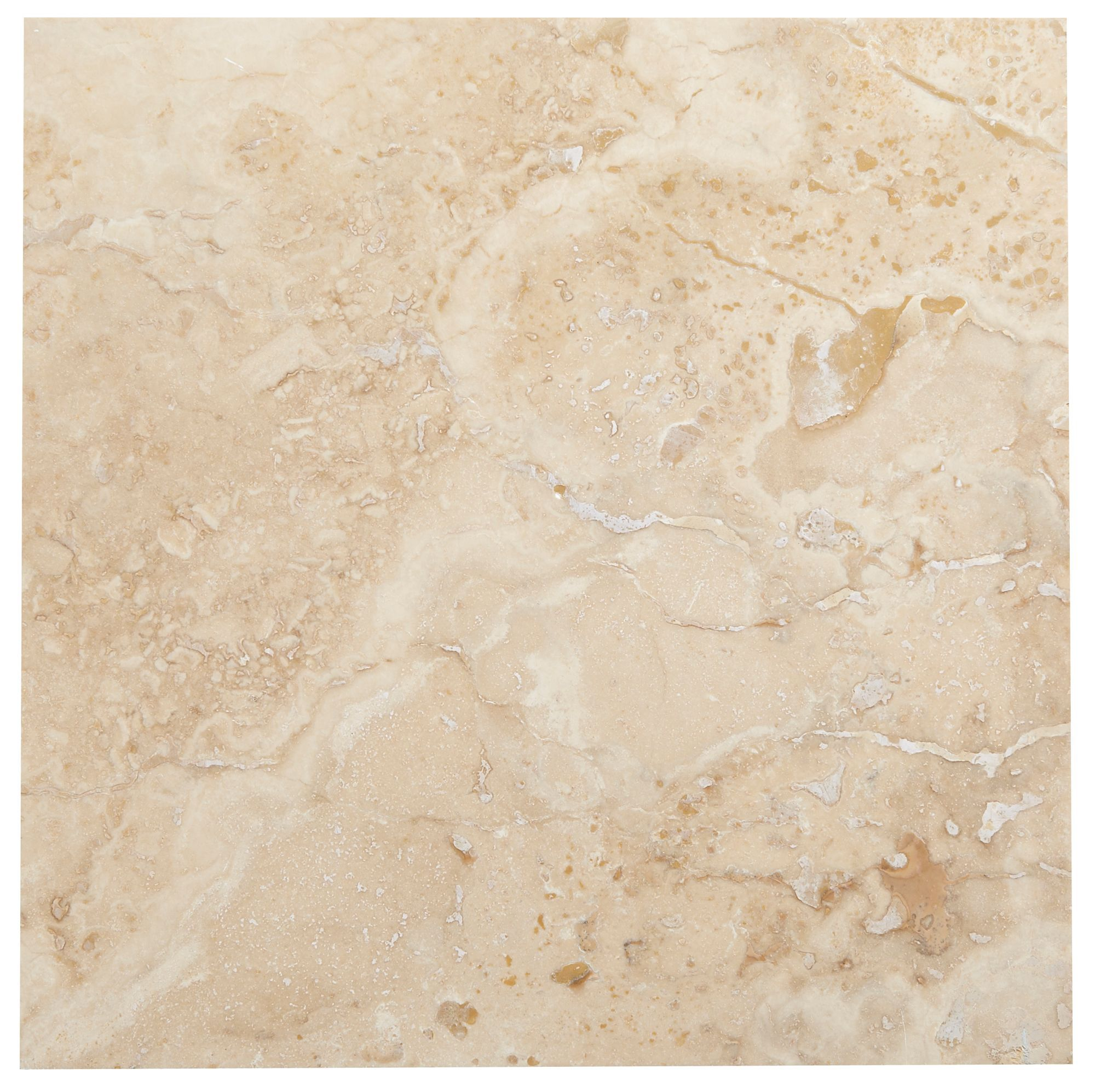 Single piece natural stone effect travertine wall tile l B q bathroom design service
