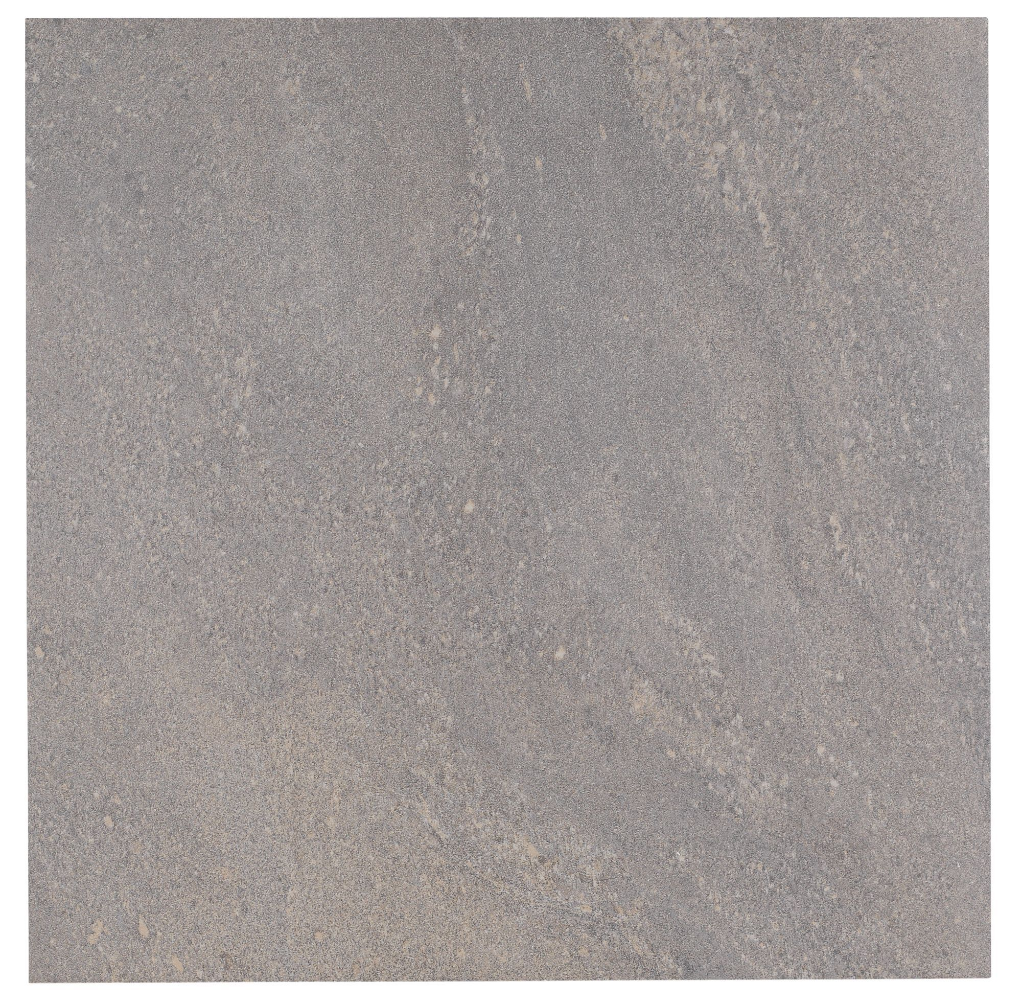 Antayla grey stone effect stone porcelain floor tile pack for Ceramic flooring