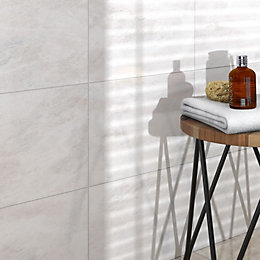 Illusion White Marble effect Ceramic Wall & floor