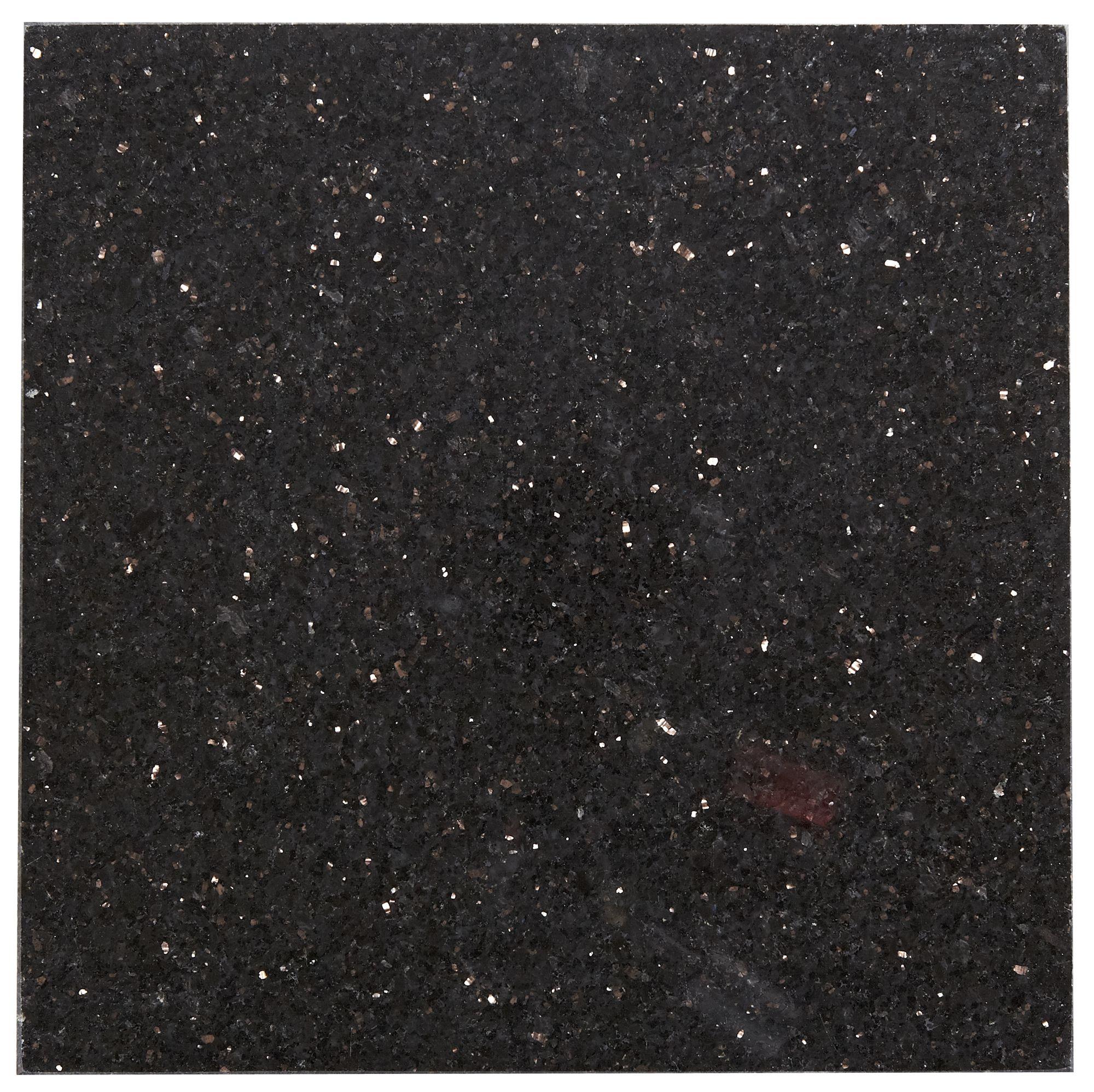 Galaxy Black Stone Effect Granite Wall Floor Tile Sample L 305mm W Departments Diy At B Q