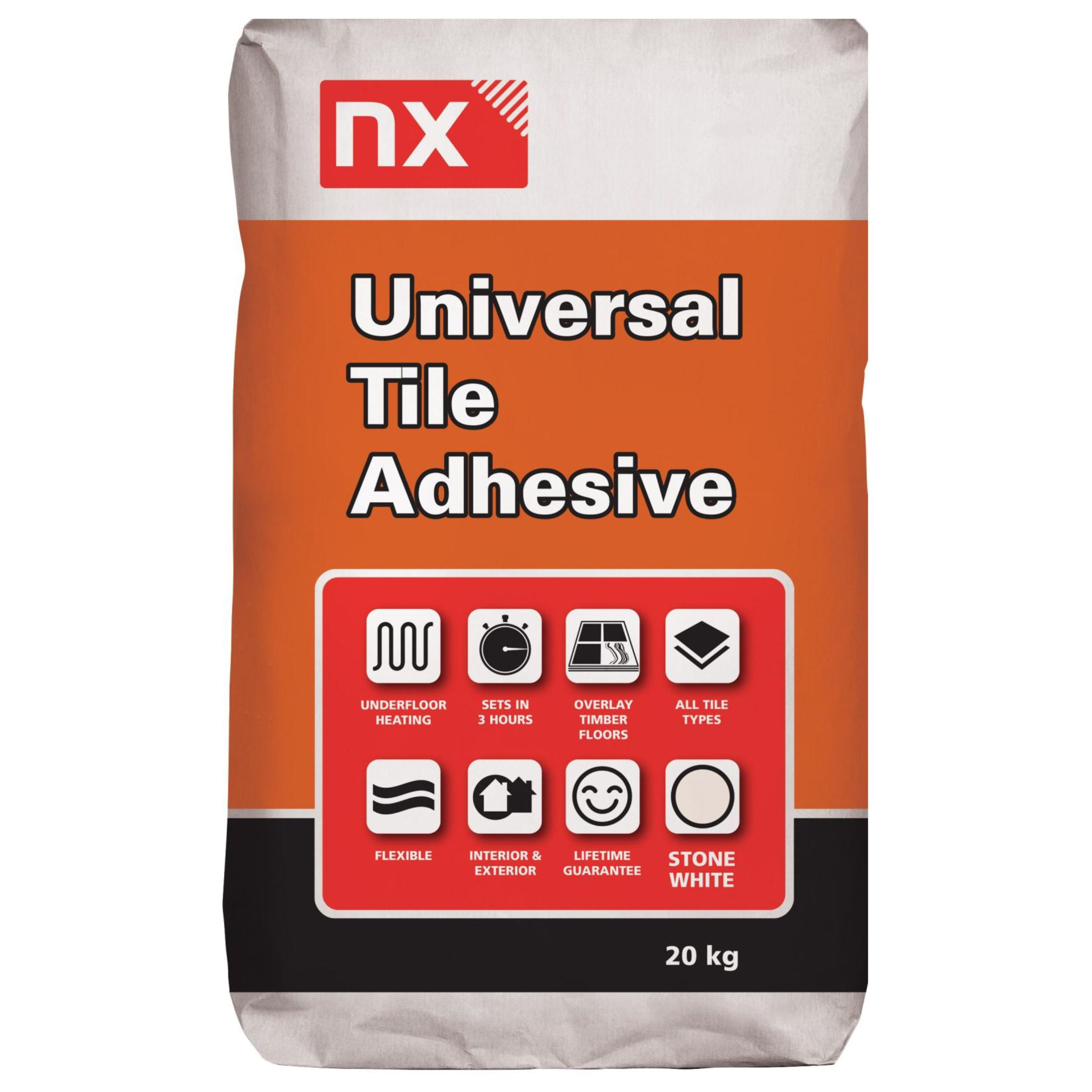NX Universal Powder Wall & floor tile adhesive,