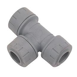 Polyplumb Push Fit Equal Tee (Dia)15mm