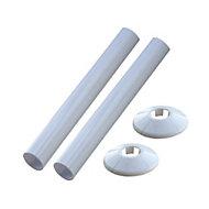 Plumbsure White Radiator makeover kit (H)270mm (D)29mm