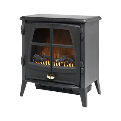 Dimplex Jazz Noir Electric Stove Departments Diy At B Amp Q
