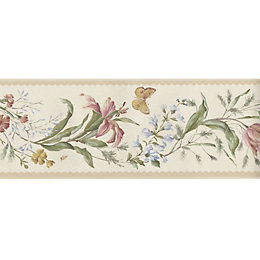 Butterfly Multicolour Floral Border