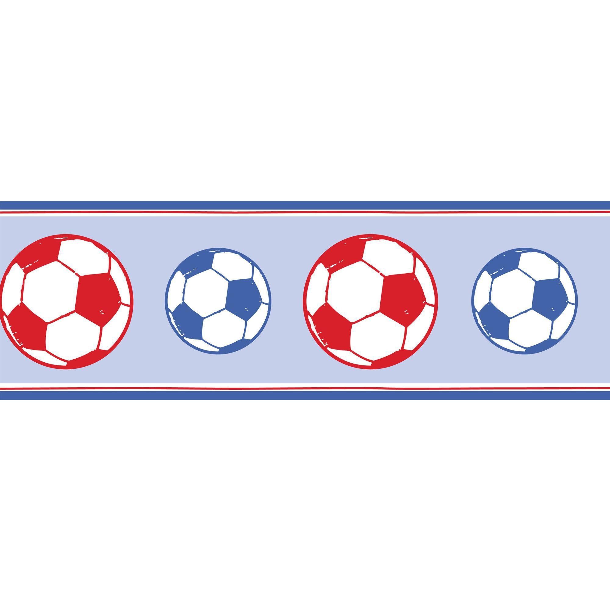 Fun4walls Football Blue Amp Red Border Departments Diy