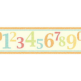 Fun4Walls Numbers Multicolour Border