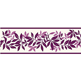 Leaf Trail Plum Border