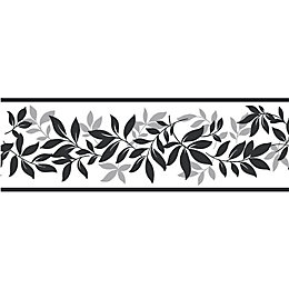Leaf Trail Black & silver Border