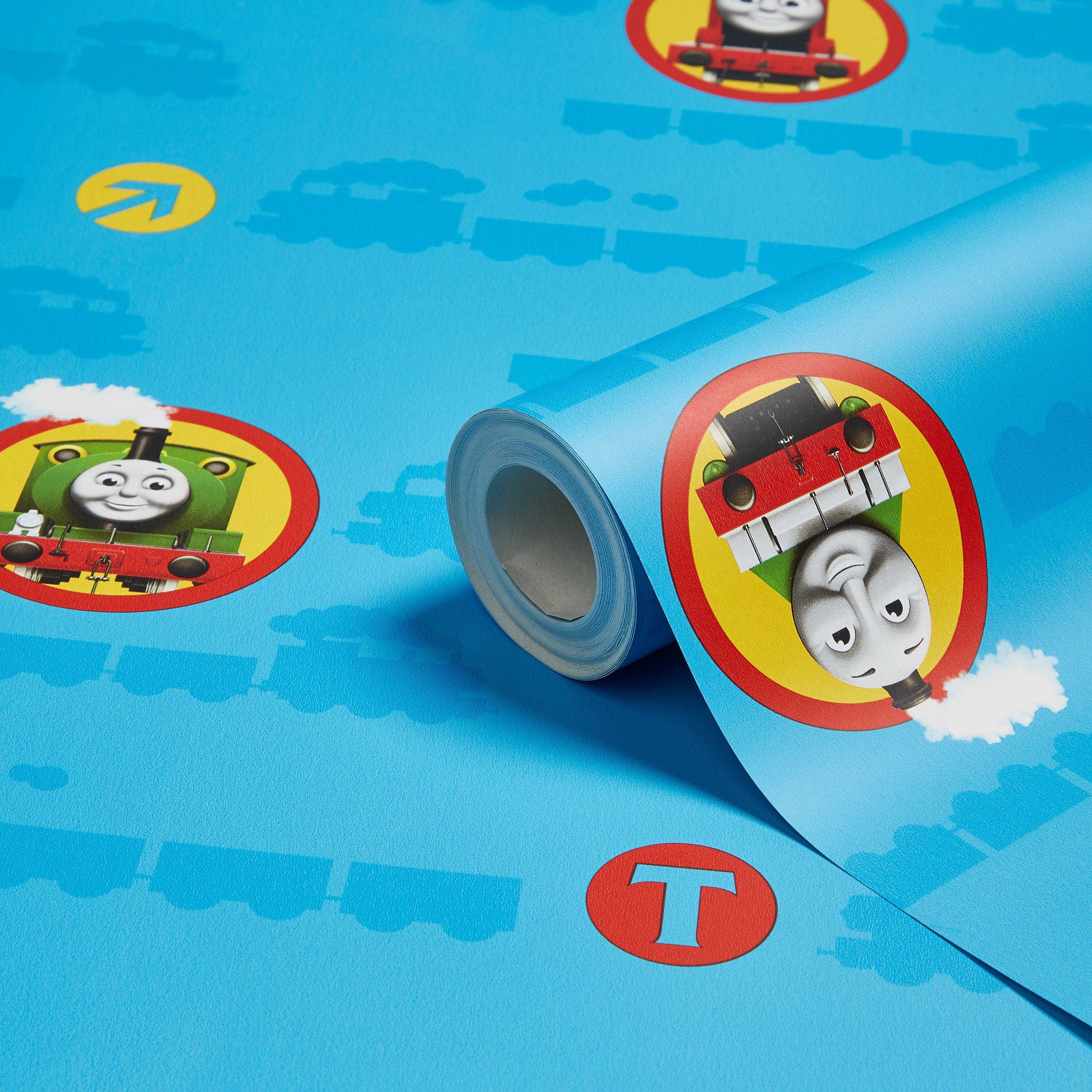 Fun4walls Thomas The Tank Engine Multicolour Smooth Wallpaper