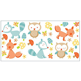 Fun4Walls Forest Friends Multicolour Self Adhesive Wall Sticker