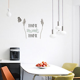 Fine Décor Home Sweet Home Grey Self Adhesive