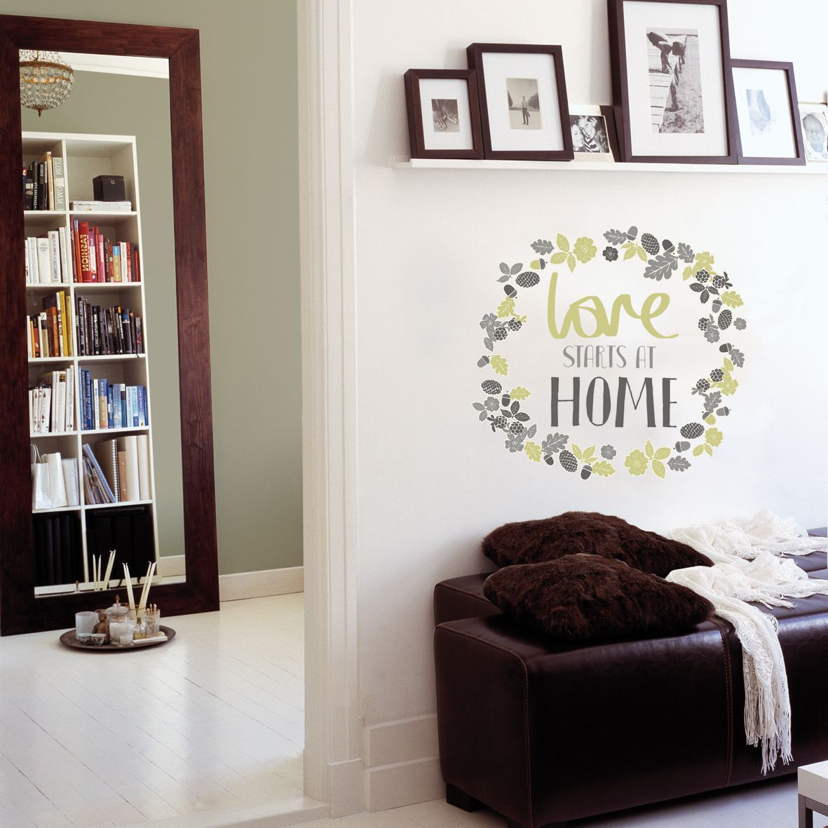 Fine Décor Love starts at home Green Self