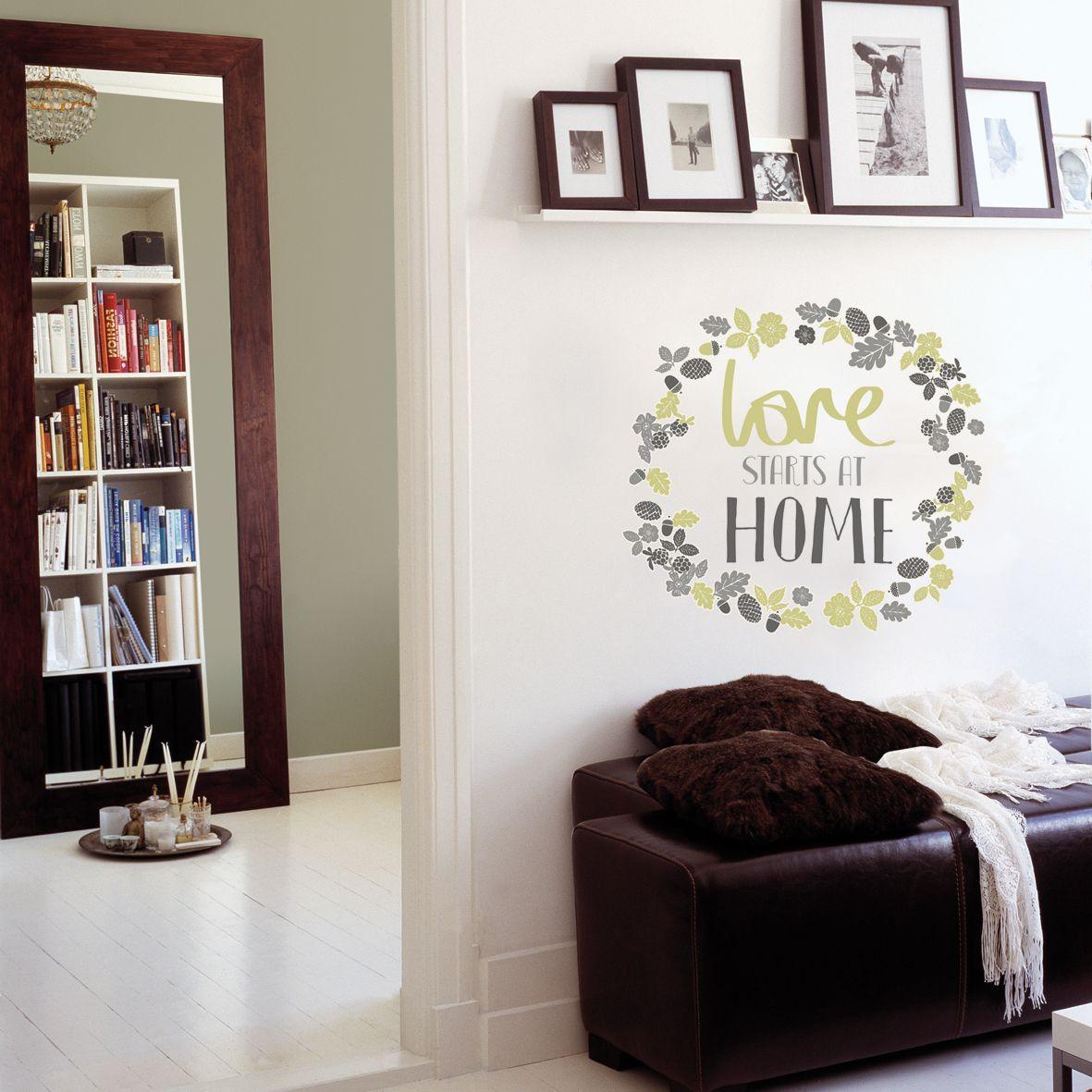 Fine Décor Love starts at home Green Self
