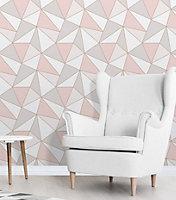 Fine décor Apex Rose gold Geometric Metallic effect Wallpaper