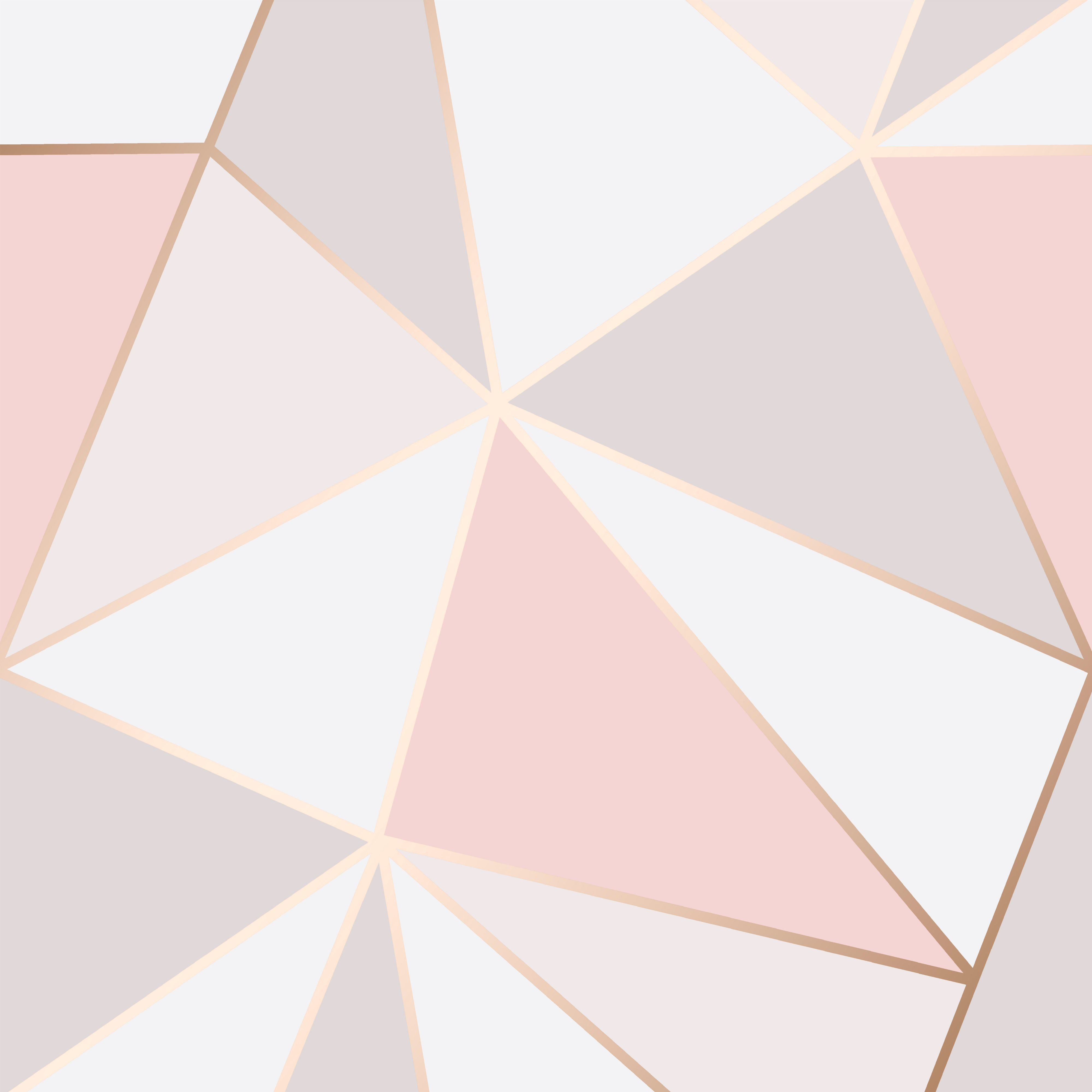 Fine Decor Rose Gold Geometric Wallpaper Departments Diy At B Q