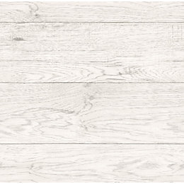 Fine Décor White Driftwood Wallpaper