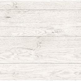 Fine Décor White Driftwood Wallpaper