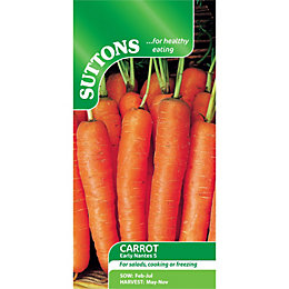 Suttons Carrot Seeds, Early Nantes 5 Mix