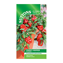 Suttons Pepper Sweet Seeds, F1 Redskin Mix