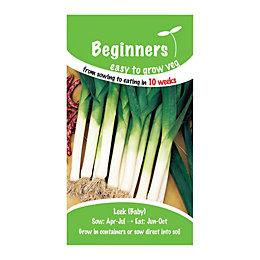 Suttons Beginners Leek Seeds, Atal Mix