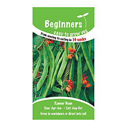 Suttons Beginners Runner Bean Seeds, Butler Mix