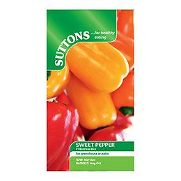 Suttons Pepper Sweet Seeds, F1 Blockie Mix