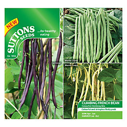 Suttons Climbing French Bean Seeds, Colourful Climbing Mix
