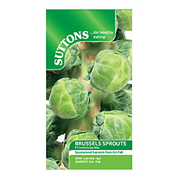 Suttons Brussels Sprout Seeds, F1 Continuity Mix