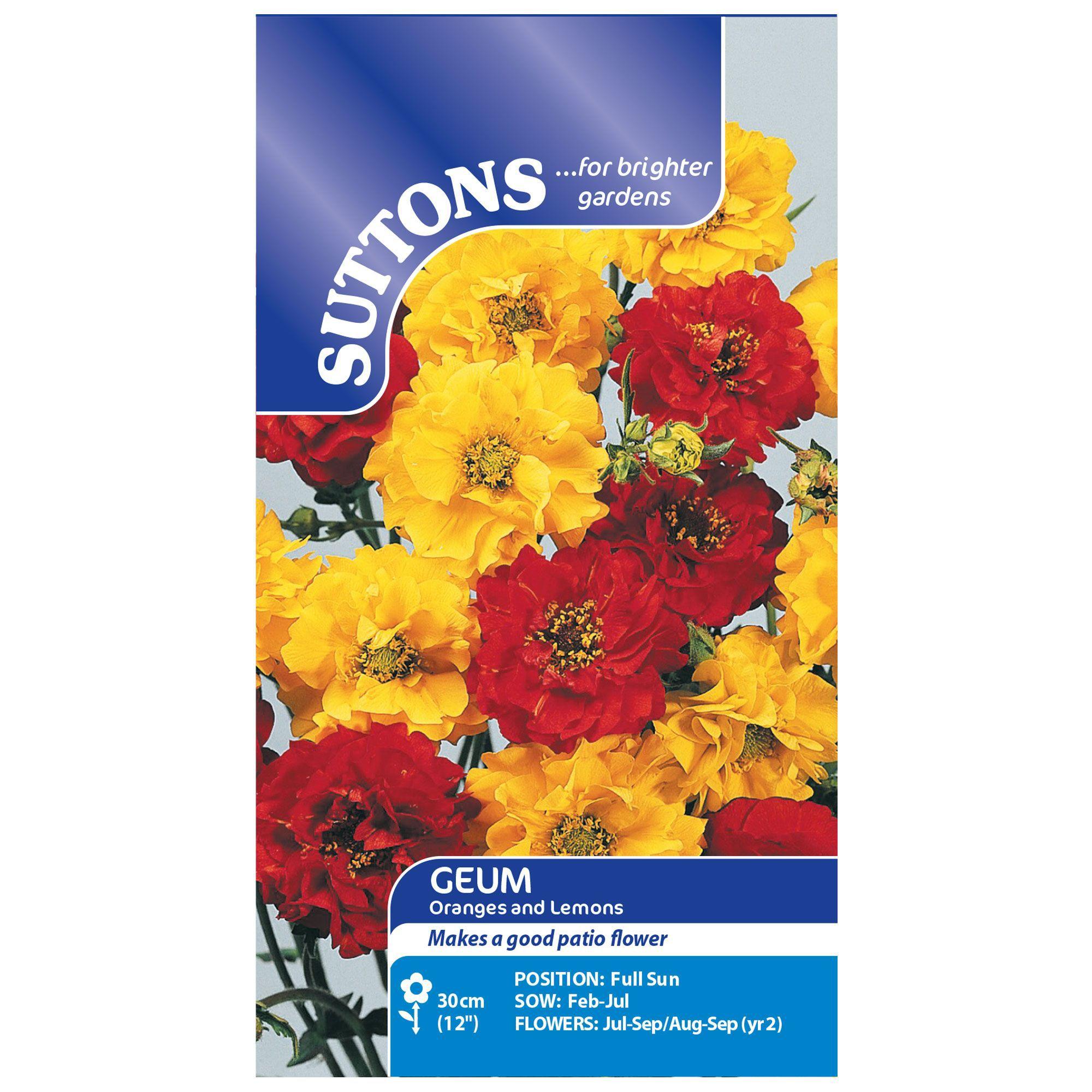 Suttons Geum Seeds, Oranges & lemons