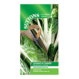 Suttons Spinach Chard Seeds, White silver 2 -