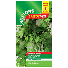 Suttons Speedy Veg Leaf Salad Seeds, French Mix