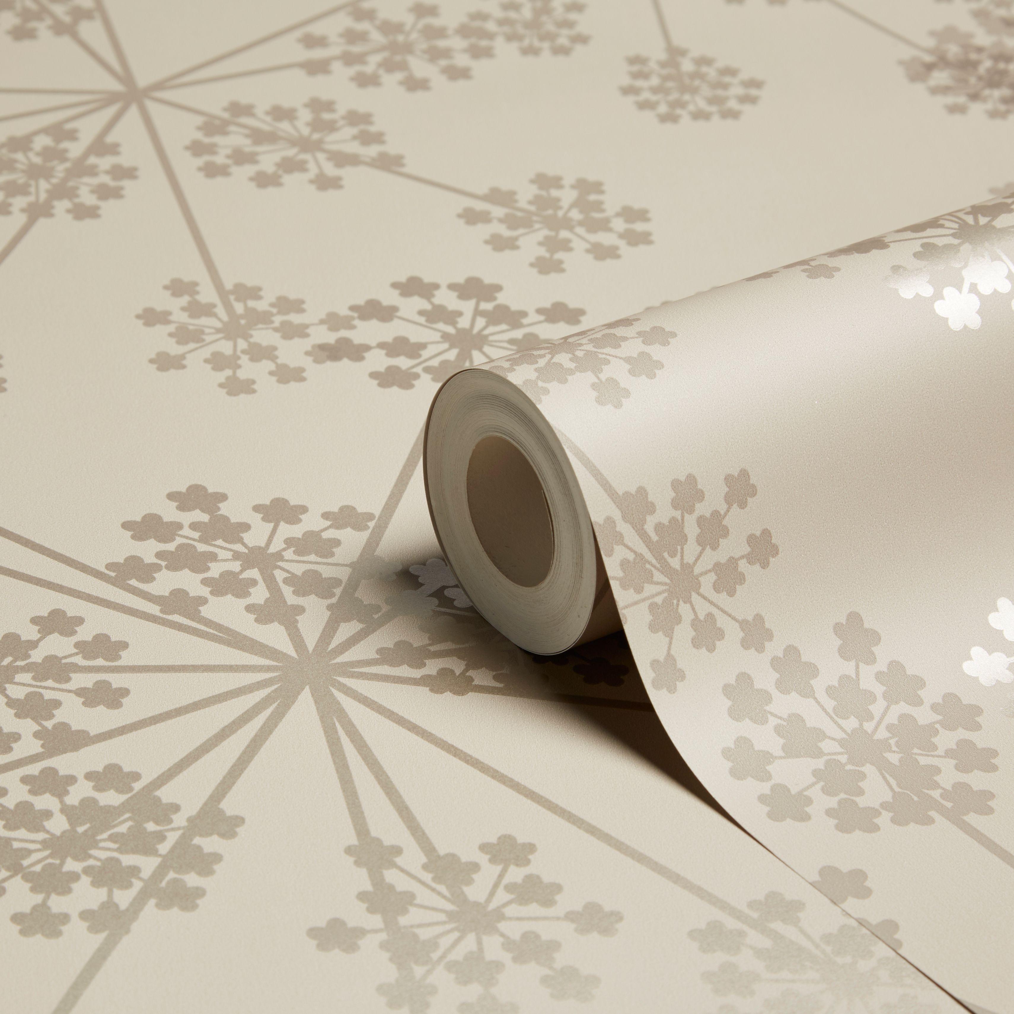 Graham Brown Sparkle Buttermilk Starburst Shimmer Wallpaper