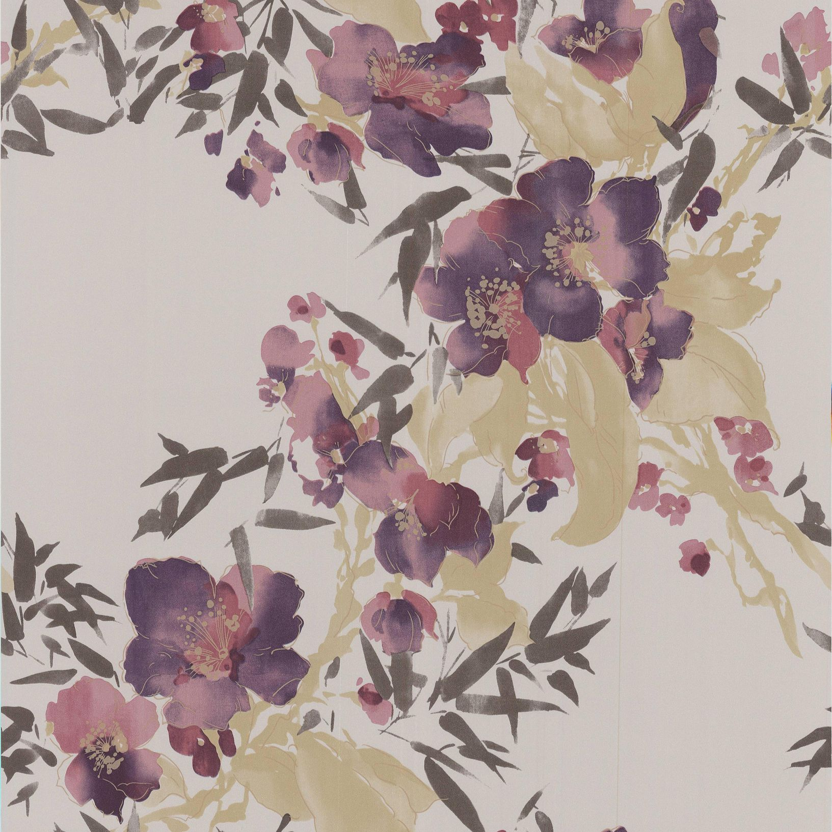 Kitchen Wallpaper At B Q: Monsoon Meadow Purple Floral Wallpaper
