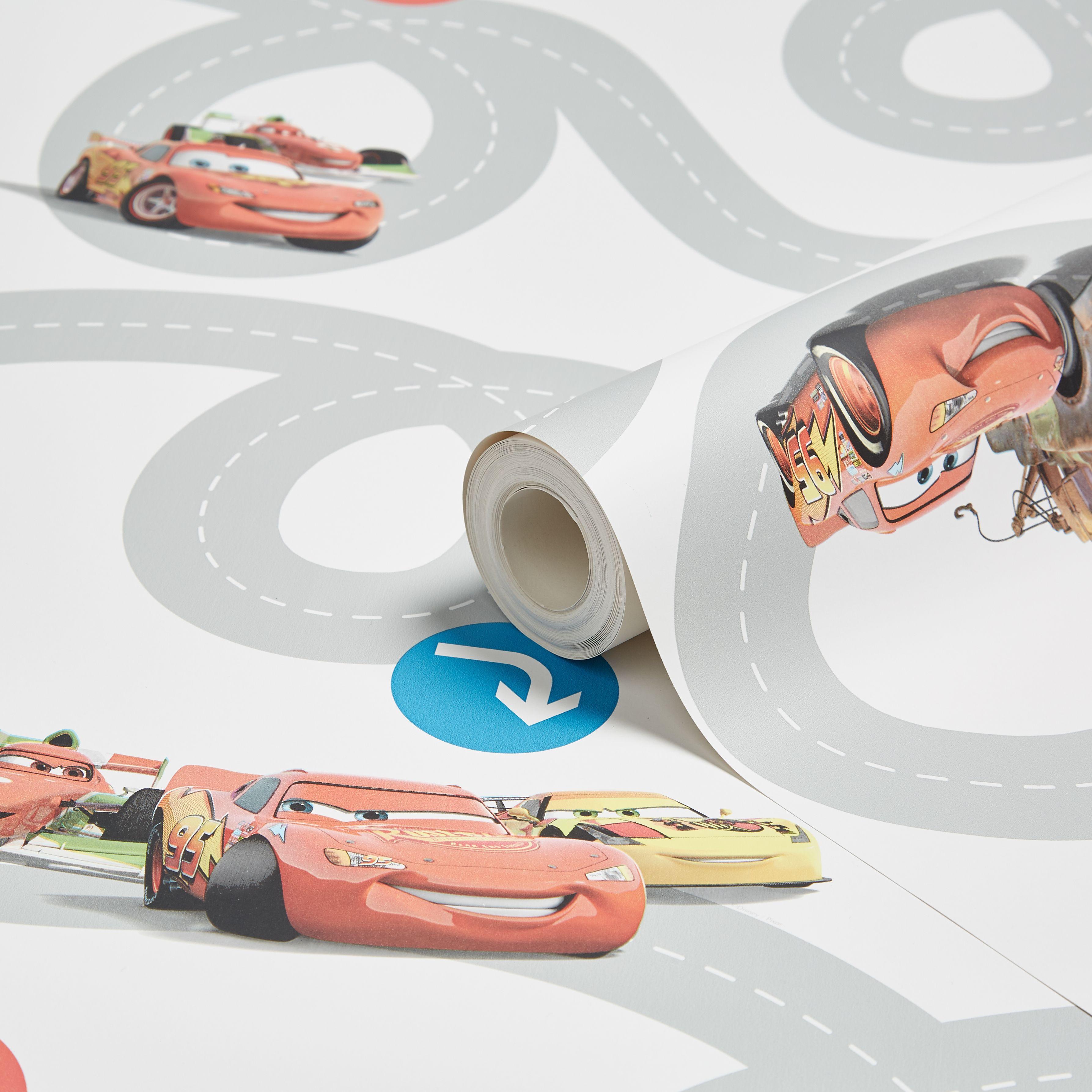 Disney Cars 2 Racetrack Wallpaper Departments Diy At B Amp Q