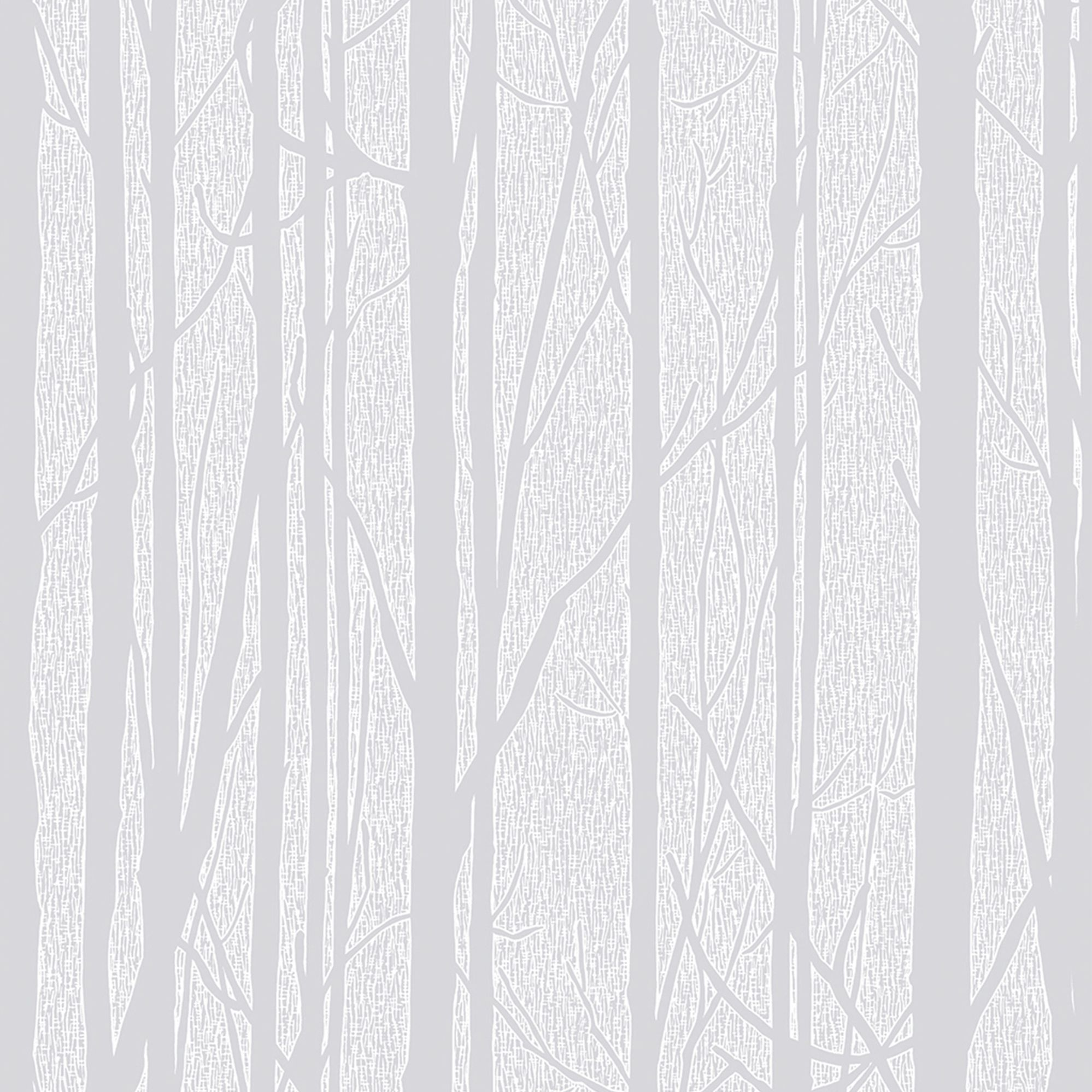 Craig rose white trees paintable wallpaper departments for Gray and white wallpaper designs