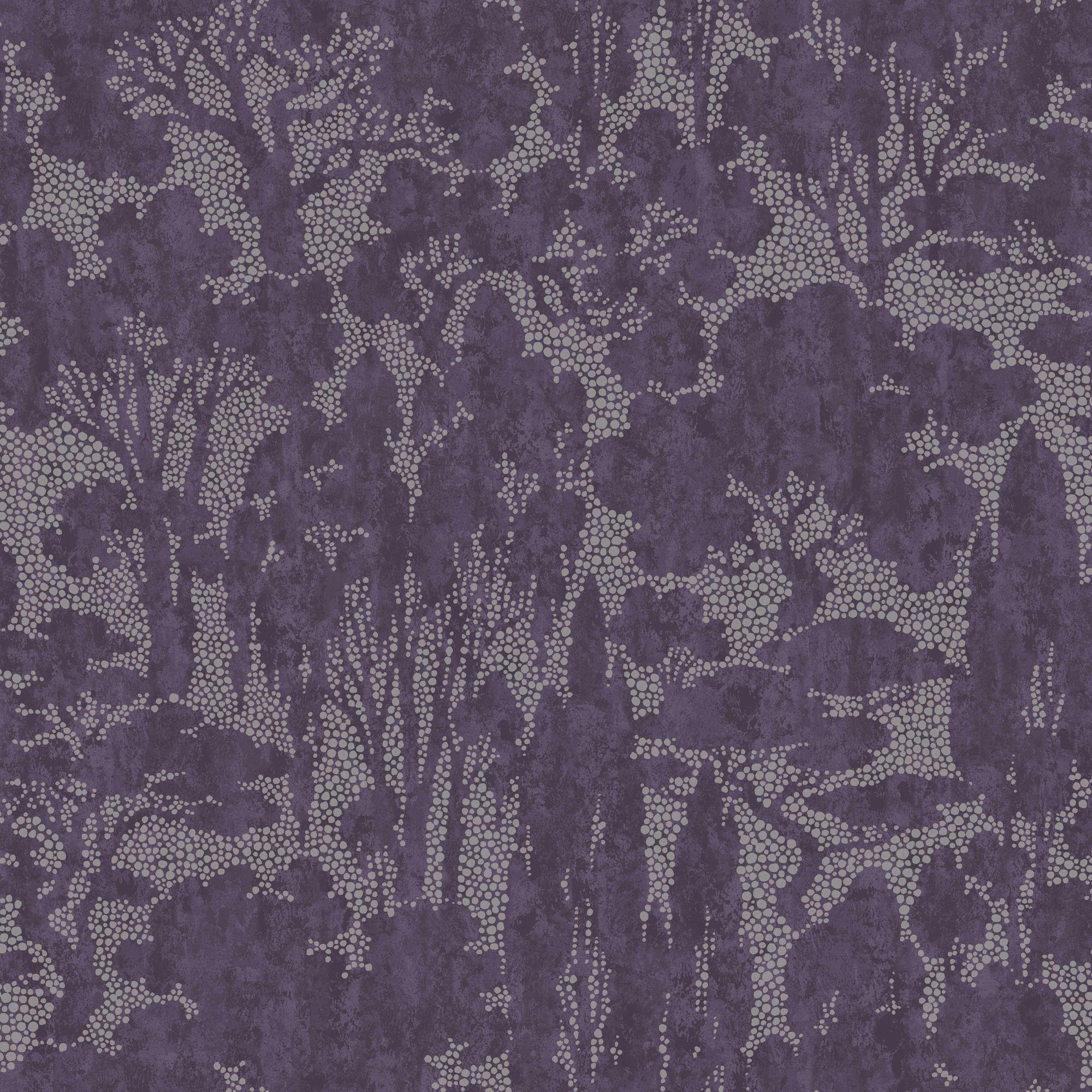 Graham Amp Brown Tranquil Purple Trees Metallic Wallpaper