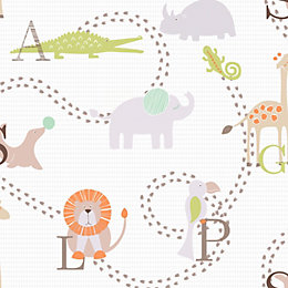 Animal nursery Children's wallpaper