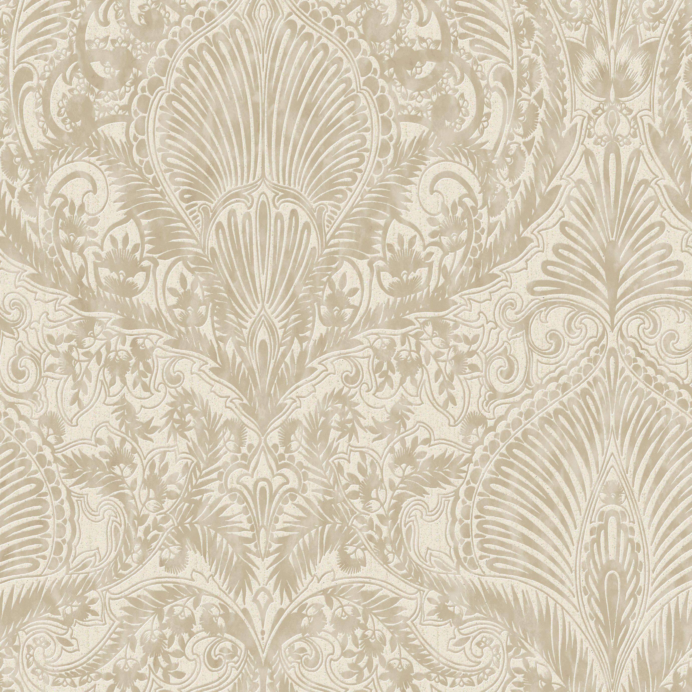 Graham Brown Julien Macdonald Cream Gold Damask Wallpaper