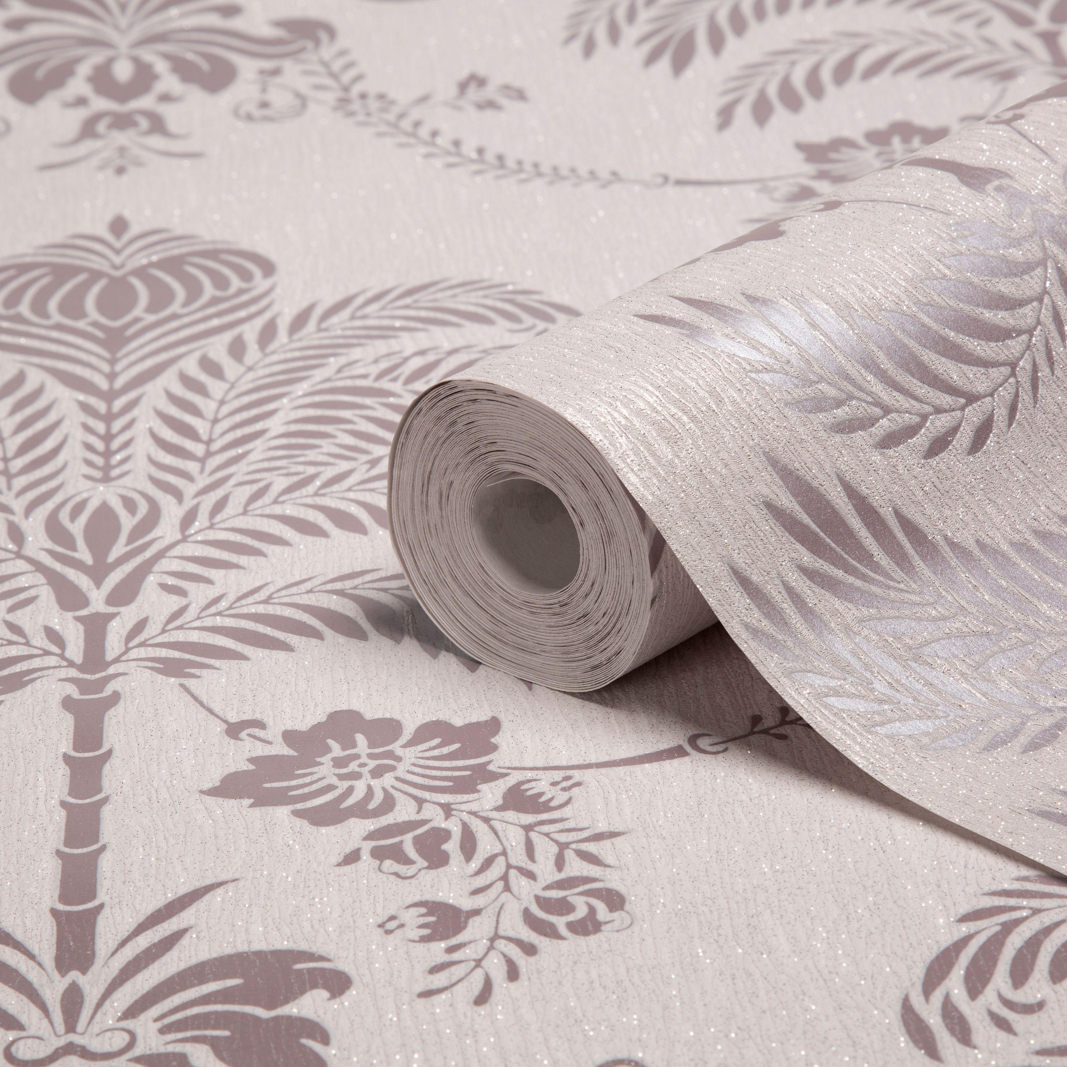Graham & Brown Julien MacDonald La Palma Lilac Shimmer Wallpaper | Departments | DIY at B&Q