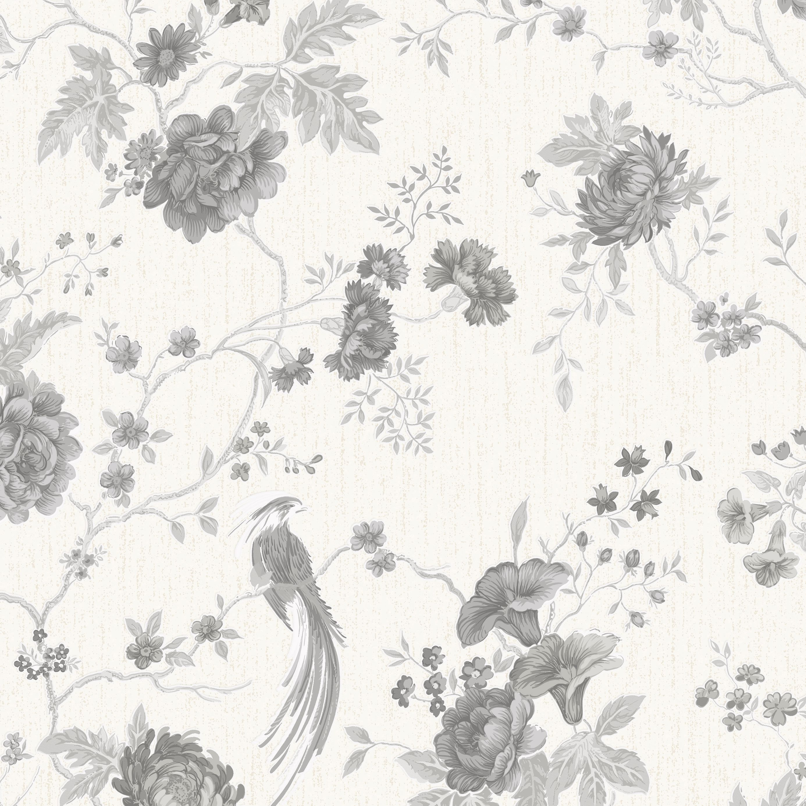 Kitchen Wallpaper At B Q: Graham & Brown Julien Macdonald Exotica White & Silver