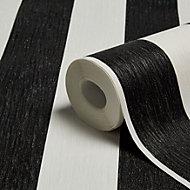 Graham & Brown Julien MacDonald Black & white Striped Wallpaper