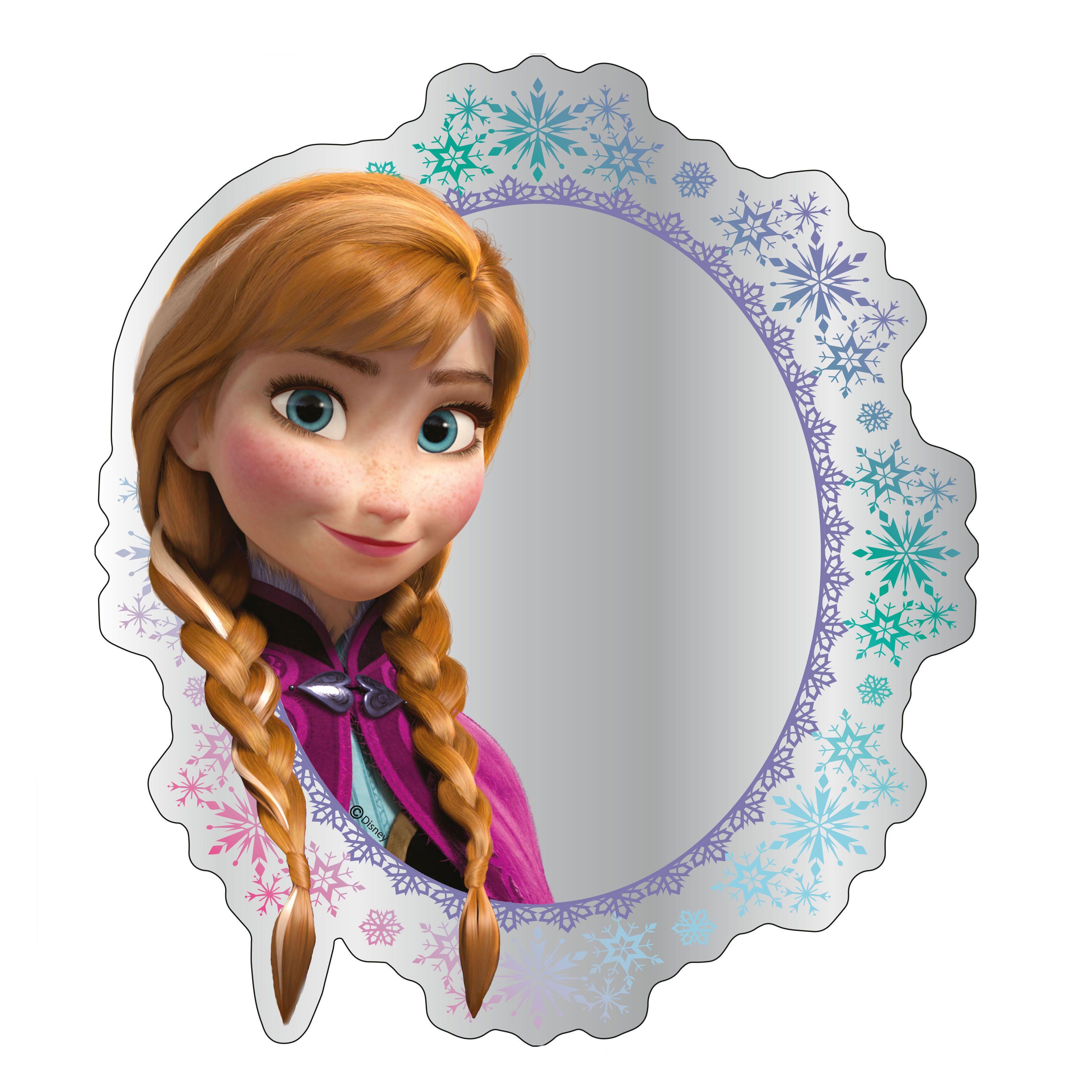 disney frozen printed unframed circular mirror (h)300mm (w