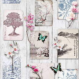 Graham & Brown Fresco Oriental Notes Wallpaper