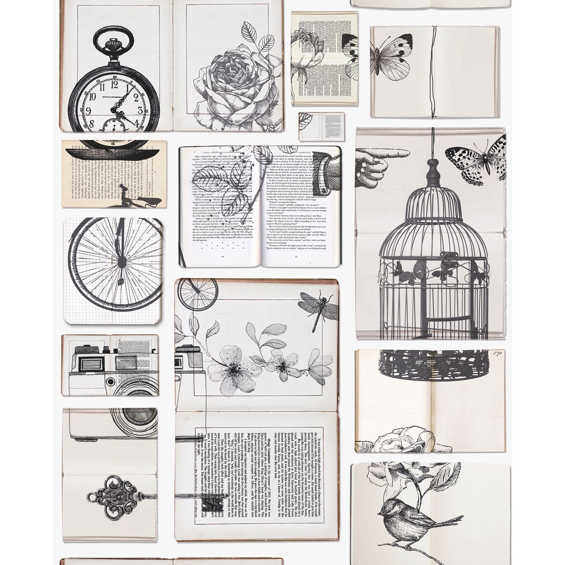 Graham Amp Brown Fresco Cream Amp Black Text Books Wallpaper