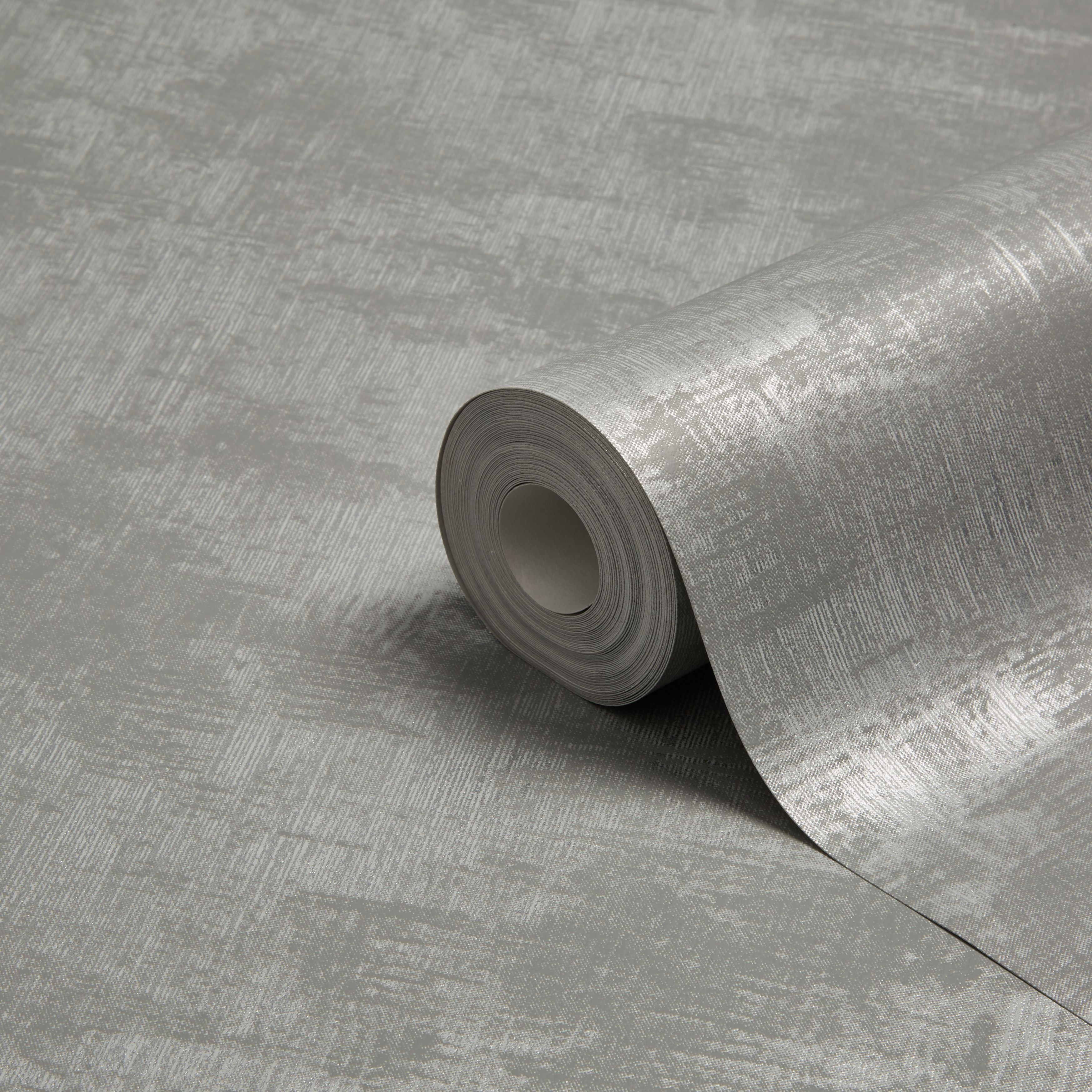 Graham Brown Superfresco Easy Pewter Silver Moonlight Metallic Wallpaper
