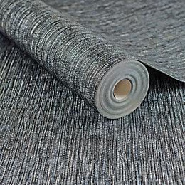 Graham & Brown Boutique Midnight Grass Cloth Wallpaper